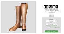 [FUSION] Men's Classic Riding Boots. - Russet