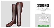 [FUSION] Men's Classic Riding Boots. - Cinnamon
