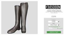 [FUSION] Men's Classic Riding Boots. - Cedar