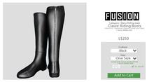 [FUSION] Men's Classic Riding Boots. - Black