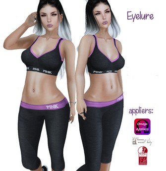 Eyelure Campus Yoga Pants and Sport Bra Set w/ Appliers