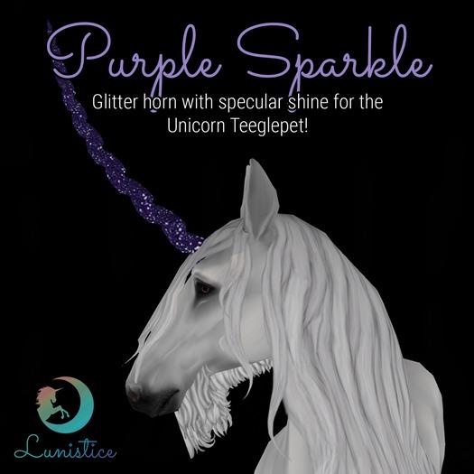 Lunistice: Purple Sparkle - Unicorn Teeglepet Horn