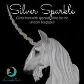 Lunistice: Silver Sparkle - Unicorn Teeglepet Horn