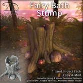 [DDD] Fairy Bath Stump - Twinkling Magical Forest Accent