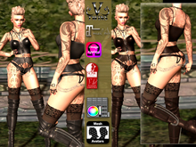 V-Twins- Biker Clothes - Unfaithful Biker Version **MESH Outfit [Mesh Bodies Compatible] Maitreya Slink