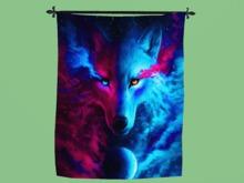 "TAPESTRY Wall Hanging Art ""Galaxy Wolf Power Cloth Print"" Hanging Interior Design House Furnishing copy/mod 1 Prim PROMO"
