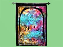 "TAPESTRY Wall Hanging Art ""Prayer Jaipuri Cloth Print"" Hanging Interior Design House Furnishings copy/mod 1 Prim PROMO"
