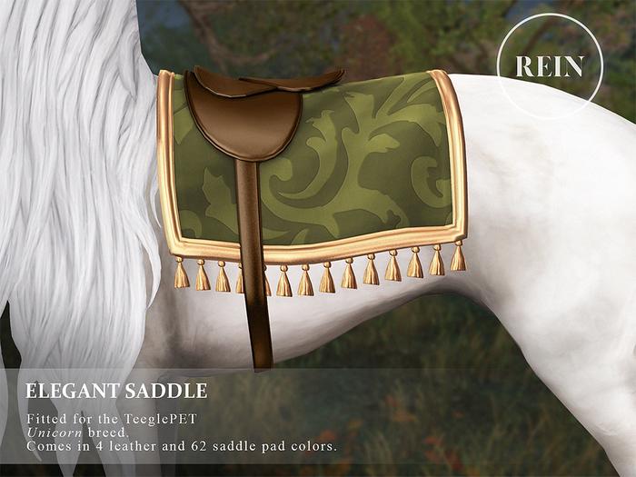 REIN - TeeglePet Elegant Saddle UNICORN