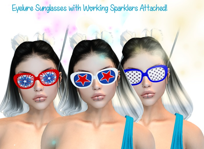 Kooky 4th of July Sunglasses - 3 pairs    HOLIDAY PROMO