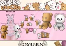 CryBunBun - Milk & Mocha - Heart 4 U (MILK) [boxed]