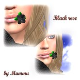 Black rose mouth (wear) by mammu