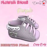 *Cherry Tot* BEBE/TDB Fitted Flower Baby Shoes Purple