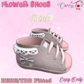 *Cherry Tot* BEBE/TDB Fitted Flower Baby Shoes Pink