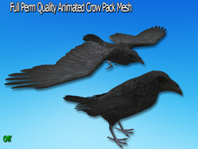 Full Perm Amazing Animated Crow Pack Mesh