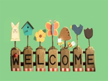 "HANGING HOME WALL DECOR ""WELCOME Bird,Bee Hand Craft Plaque"" Art Design House Furnishing copy/mod 1 PRIM PROMO SALE"