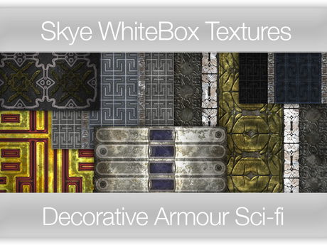 Decorative Armour Plate - Sci-fi -  Skye WhiteBox Full Perms Textures