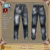 [Drac] Billy Jeans Mens - Dark Blue .. Signature Gianni, Belleza Jake, Altamura, Adam, Slink Male, Exmac