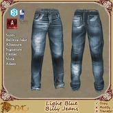 [Drac] Billy Jeans Mens - Light Blue .. Signature Gianni, Belleza Jake, Altamura, Adam, Slink Male, Exmac