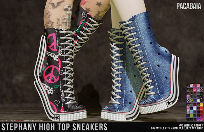:PC: Stephany Sneakers [SLINK HIGH (Slink Physique, Hourglass) - MAITREYA Lara - BELLEZA (Venus, Isis, Freya)]