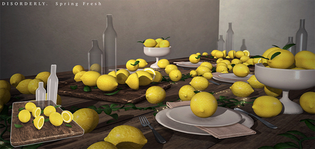 DISORDERLY. / Spring Fresh / Lemon Cutting Board