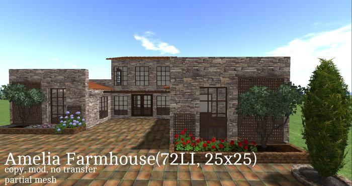 Amelia Farmhouse(72LI, 25x25)