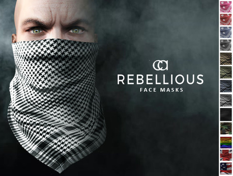 CA REBELLIOUS FACE MASKS GENTS