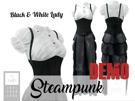 RUSH Steampunk Lady B&W DEMO Pack