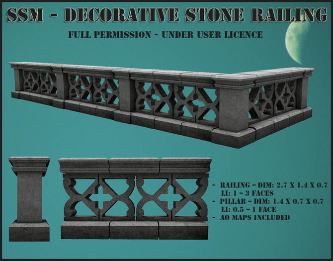 SSM - Decorative Stone Railing