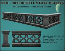 SSM - Decorative Stone Railing