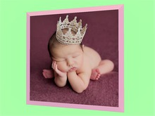 """CHILD HOME DECOR WALL HANGING ART """"Baby Girl Princess Picture"""" House Picture Plaque Copy/Mod 1 Prim PROMO SALE"""