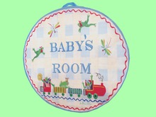 """CHILD HOME DECOR WALL HANGING ART """"BABY'S ROOM Needlepoint"""""""
