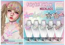 NS::  Fairy kei Rainbow necklace