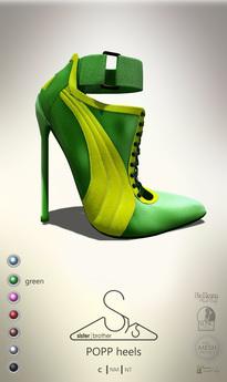 [sYs] POPP heels  (body mesh) - green GIFT <3