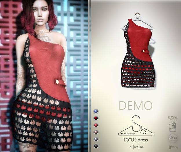 [sYs] LOTUS dress (body mesh) - DEMO