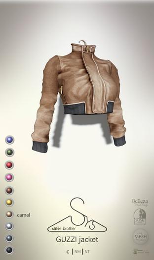 [sYs] GUZZI jacket (body mesh) - camel