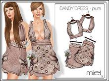 MIEL DANDY DRESS - plum