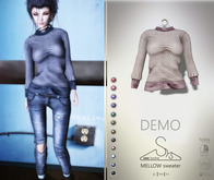 [sYs] MELLOW sweater (fitted & body mesh) - DEMO