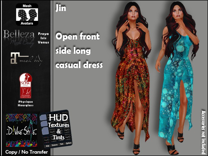 :: D!vine Style :: Jin - Open front side long casual dress