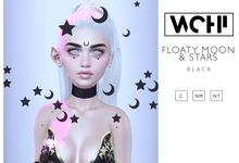 wchi // black floaty moon & stars