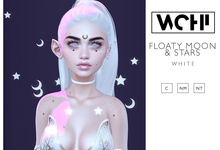 wchi // white floaty moon & stars