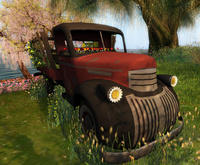 CJ Flowerpower Pickup Truck Set for Couple/Single with Props
