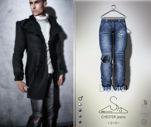 [sYs] CHESTER jeans M (fitted & body mesh) - DEMO
