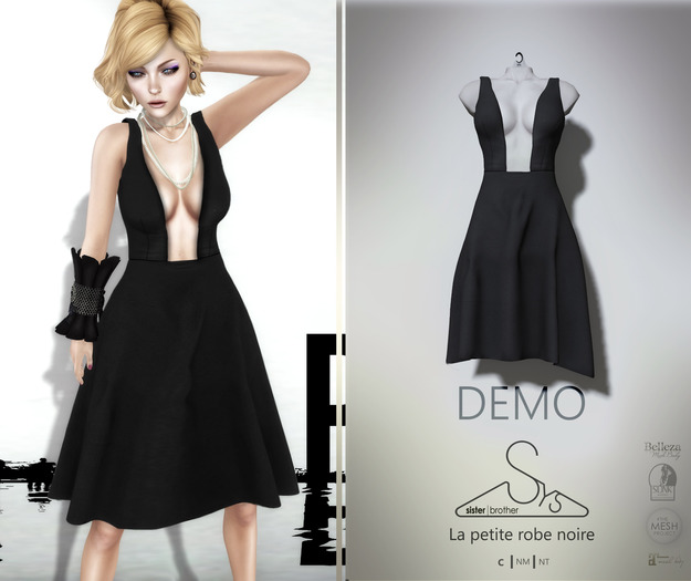 [sYs] La Petite Robe Noire (fitted & body mesh) DEMO