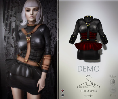 [sYs] HELLIA dress (fitted & body mesh) - DEMO