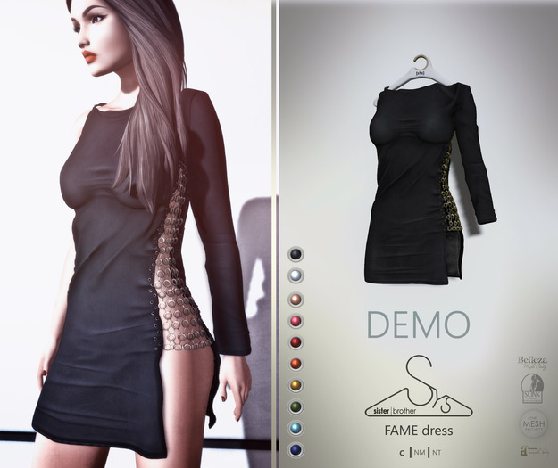 [sYs] FAME dress (fitted & body mesh) - DEMO