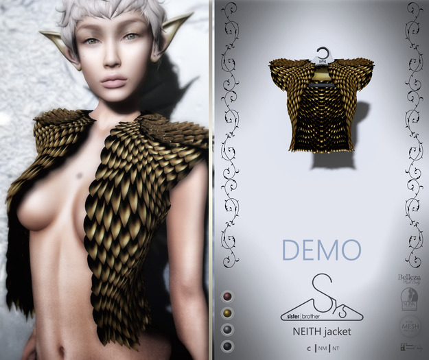 [sYs] NEITH jacket (fitted & body mesh) - DEMO