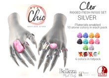 Stay Chic - Cleo rings SILVER bento