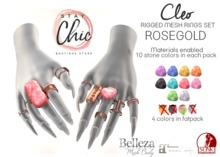 Stay Chic - Cleo rings ROSEGOLD bento