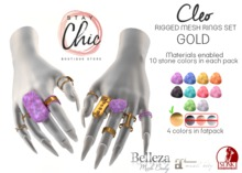 Stay Chic - Cleo rings GOLD bento