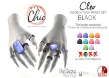 Stay Chic - Cleo rings BLACK bento